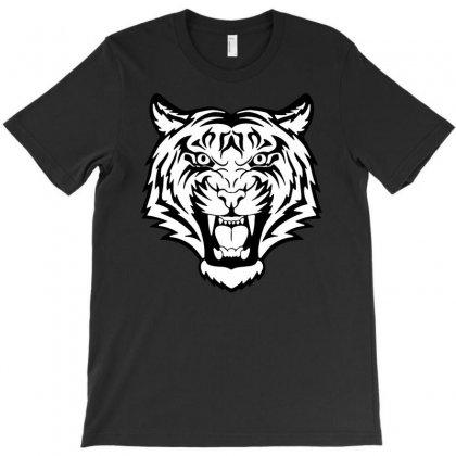 Tiger Lion Face T-shirt Designed By Apuy