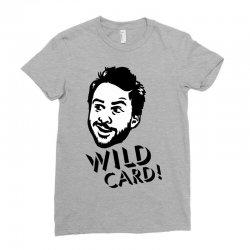 wild card Ladies Fitted T-Shirt   Artistshot