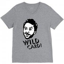 wild card V-Neck Tee   Artistshot