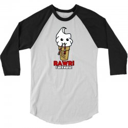rawr i am a walrus ice cream cute 3/4 Sleeve Shirt | Artistshot