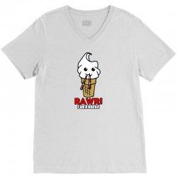 rawr i am a walrus ice cream cute V-Neck Tee | Artistshot