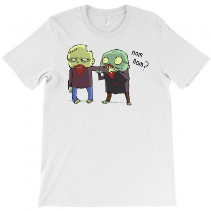 Cannibal Nom Nom Zombie T-shirt Designed By Thesamsat