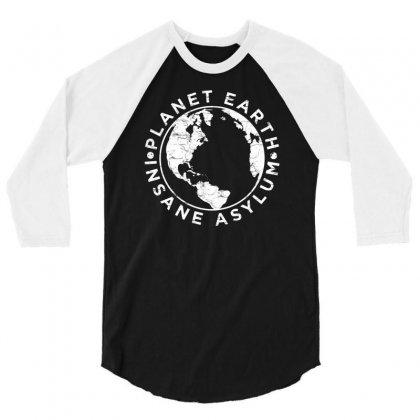 Earth Asylum 3/4 Sleeve Shirt Designed By Chilistore
