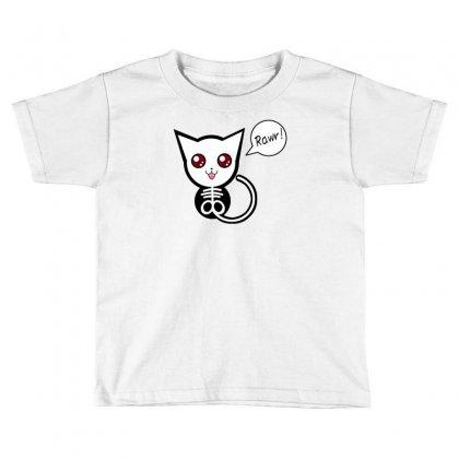 Creepy Cat Rawr Toddler T-shirt Designed By Thesamsat