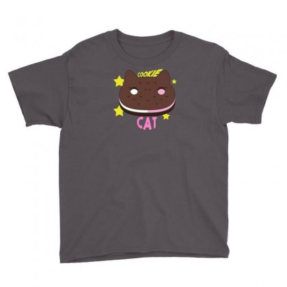 Cookie Cat Youth Tee Designed By Thesamsat