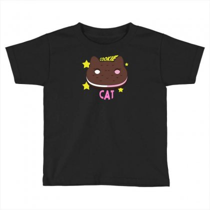 Cookie Cat Toddler T-shirt Designed By Thesamsat