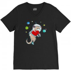in otter space, only otters can hear you scream V-Neck Tee | Artistshot