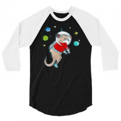 in otter space, only otters can hear you scream 3/4 Sleeve Shirt | Artistshot