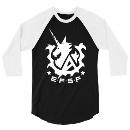 Earth Federation Space Force 3/4 Sleeve Shirt Designed By Specstore