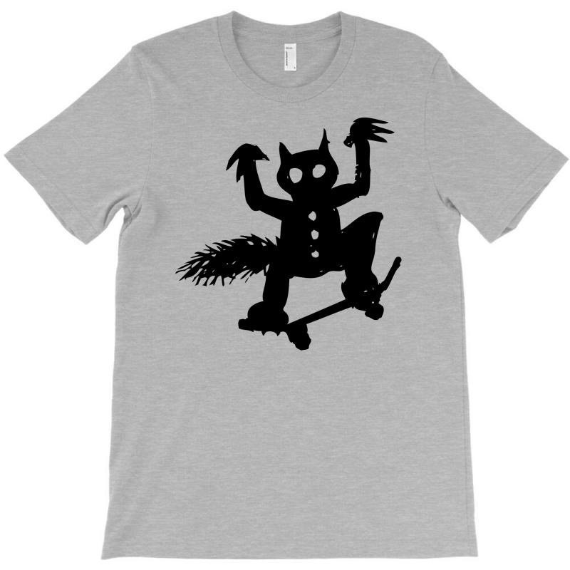 Wild Thing On A Skateboard T-shirt | Artistshot