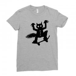 wild thing on a skateboard Ladies Fitted T-Shirt | Artistshot