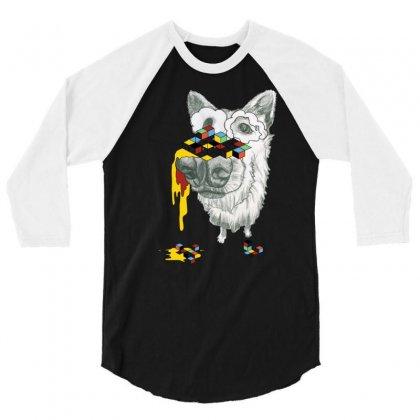 Cube Dog 3/4 Sleeve Shirt Designed By Chilistore