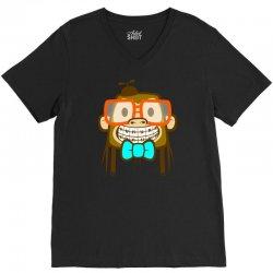 geek monkey V-Neck Tee | Artistshot