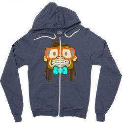 geek monkey Zipper Hoodie | Artistshot