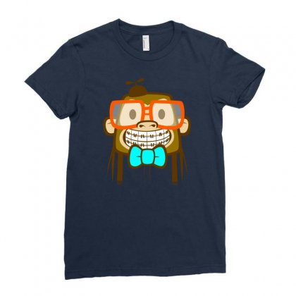 Geek Monkey Ladies Fitted T-shirt Designed By Chilistore