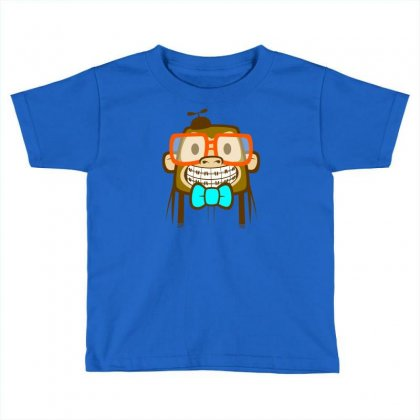 Geek Monkey Toddler T-shirt Designed By Chilistore