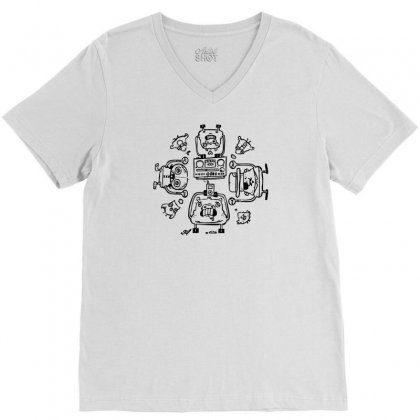 Piggy Affection V-neck Tee Designed By Thesamsat