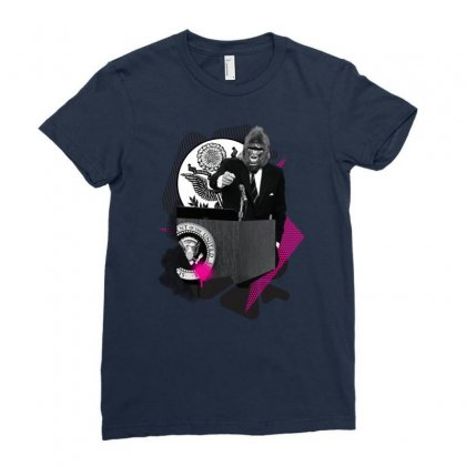 President Of The United Apes Ladies Fitted T-shirt Designed By Chilistore