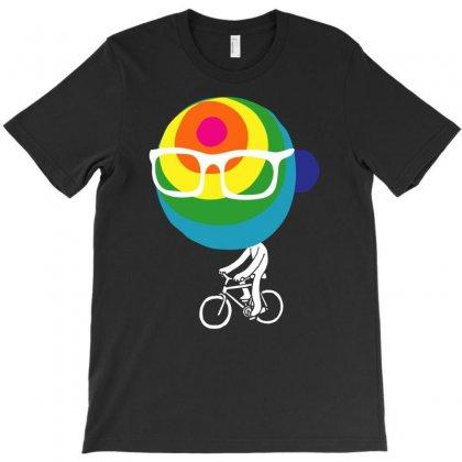 Rainbow Bike T-shirt Designed By Chilistore