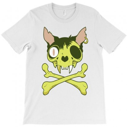 Kitty Krossbones T-shirt Designed By Thesamsat