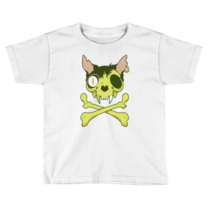 Kitty Krossbones Toddler T-shirt Designed By Thesamsat