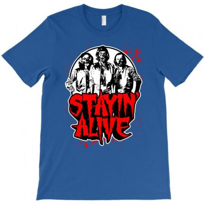 Stayin' Alive T-shirt Designed By Chilistore