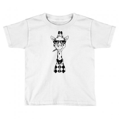 Nerd Giraffe Toddler T-shirt Designed By Thesamsat