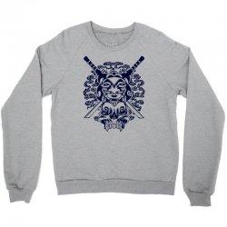 Samurai Mask and Skull Crewneck Sweatshirt | Artistshot