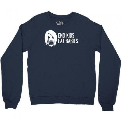 Emo Kids Eat Babies Crewneck Sweatshirt Designed By Specstore