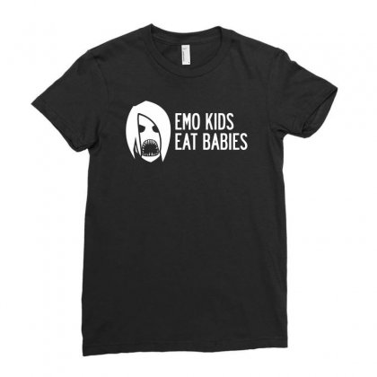 Emo Kids Eat Babies Ladies Fitted T-shirt Designed By Specstore