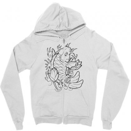 Goldfish Of Heaven Zipper Hoodie Designed By Specstore