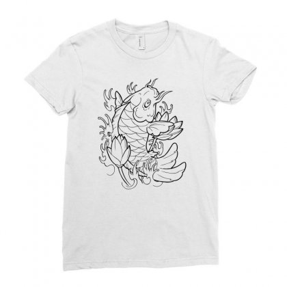 Goldfish Of Heaven Ladies Fitted T-shirt Designed By Specstore