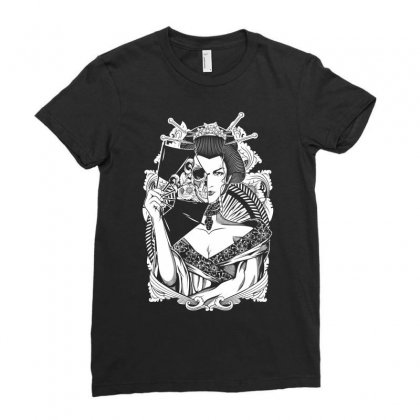 Half Dead Geisha Ladies Fitted T-shirt Designed By Specstore