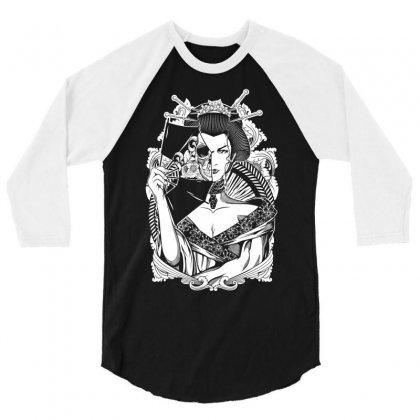 Half Dead Geisha 3/4 Sleeve Shirt Designed By Specstore
