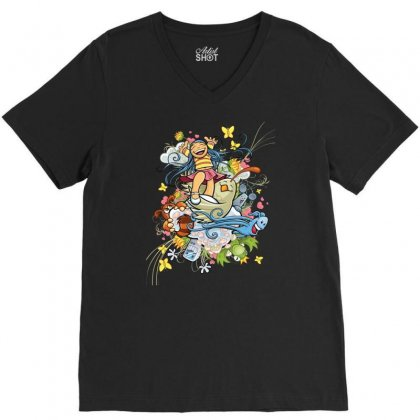 Happy Day Adventure V-neck Tee Designed By Specstore