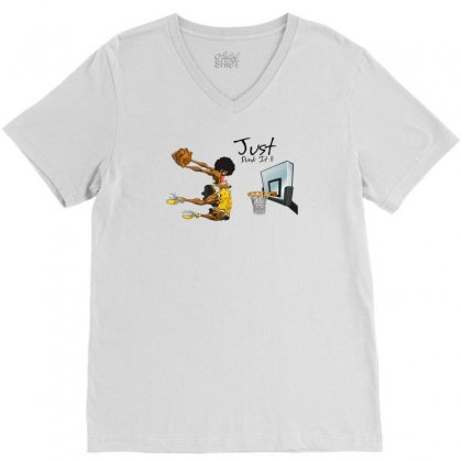 Just Dunk It V-neck Tee Designed By Specstore