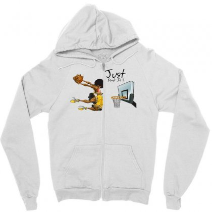Just Dunk It Zipper Hoodie Designed By Specstore