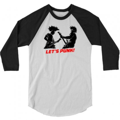 Lets Punk 3/4 Sleeve Shirt Designed By Specstore