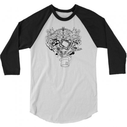 Magic Hat Of Social 3/4 Sleeve Shirt Designed By Specstore
