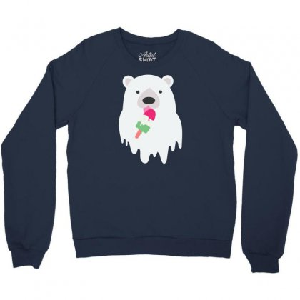 Melted Polar Cream Crewneck Sweatshirt Designed By Specstore