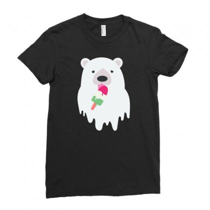 Melted Polar Cream Ladies Fitted T-shirt Designed By Specstore