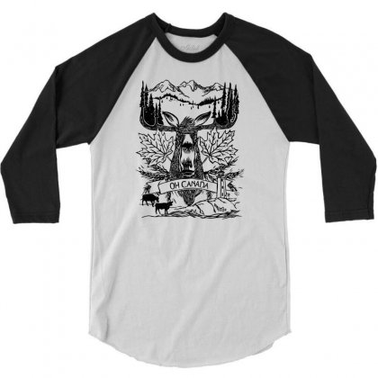 Oh Canada 3/4 Sleeve Shirt Designed By Specstore