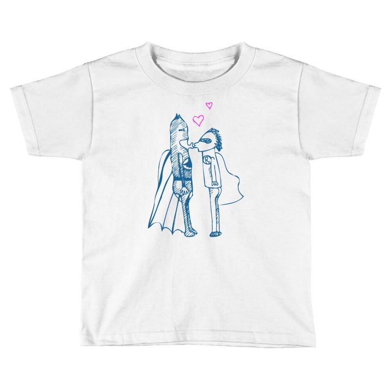 f5538b7a8 Custom Batman Heart Robin Toddler T-shirt By Thesamsat - Artistshot