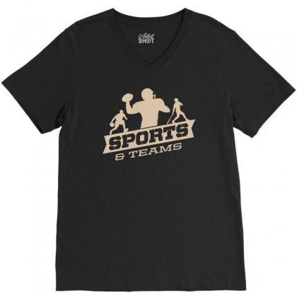 Sports And Teams V-neck Tee Designed By Buckstore