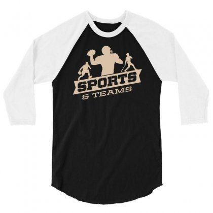Sports And Teams 3/4 Sleeve Shirt Designed By Buckstore