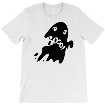 Halloween Card With Spooky Boo T-shirt Designed By Thesamsat