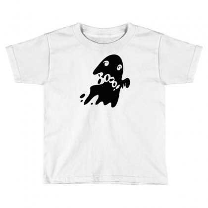Halloween Card With Spooky Boo Toddler T-shirt Designed By Thesamsat