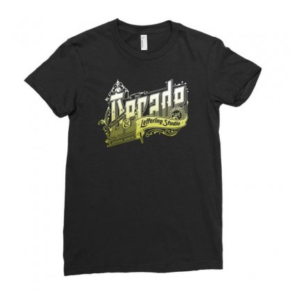 Decade Lettering Ladies Fitted T-shirt Designed By Buckstore