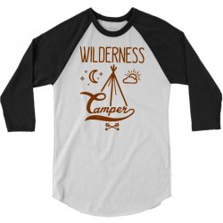 wilderness camper 3/4 Sleeve Shirt | Artistshot