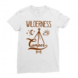 wilderness camper Ladies Fitted T-Shirt | Artistshot